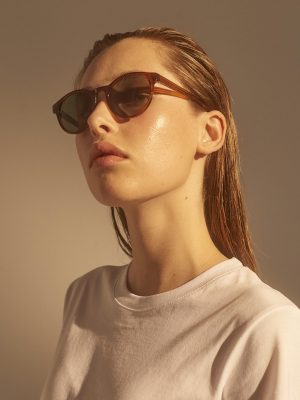 A.Kjaerbede Marvin Sunglasses in Brown Transparent