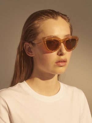 A.Kjaerbede Stella Sunglasses Light Brown Transparent