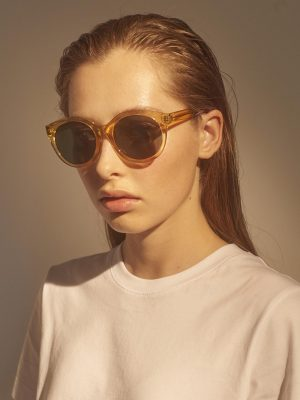 A.Kjaerbede Butterfly Sunglasses Yellow Transparent