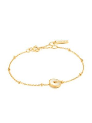 Ania Haie Mother Of Pearl Disc Bracelet