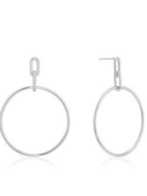 Ania Haie Silver Cable Link Hoop earrings