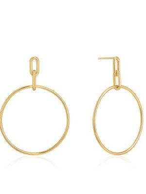 Ania Haie gold cable link hoop earrings