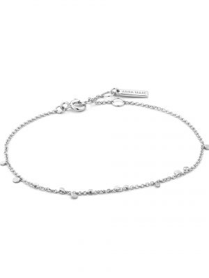 Ania Haie Silver Geometry Mixed Discs bracelet