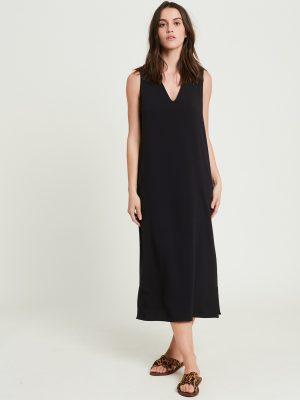 Hartford Riley Crepe Dress Black 1
