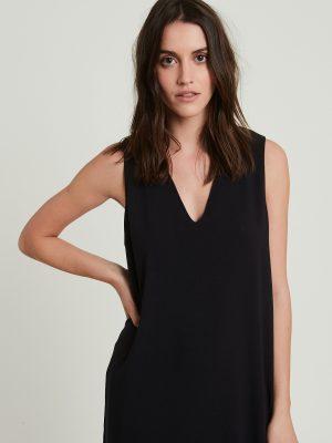 Hartford Riley Crepe Dress Black