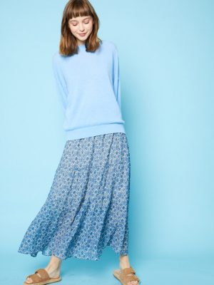 Jeff blue printed Lenita skirt