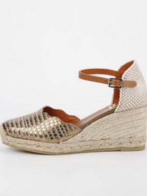 Kanna Wedge Sandal in Gold