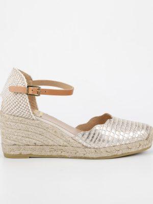 Kanna Wedge Sandal in Ivory