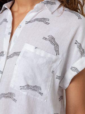 Rails Whitney Linen Shirt Cheetahs