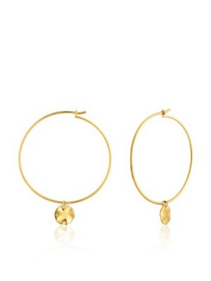 Ripple hoop earrings
