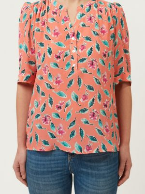 Allie And Grace Ava Blouse Coral Floral