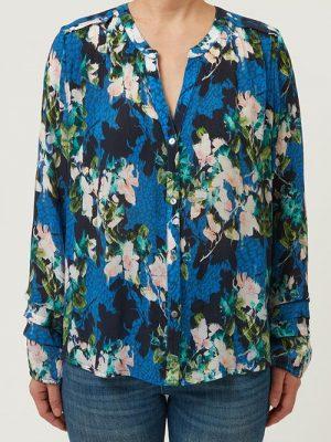 Allie and Grace Flo Blue Floral blouse 2