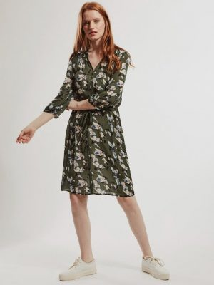 Allie And Grace Freya Print Dress Green Floral