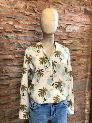 Hartford Cabane Monkey Shirt Green 1