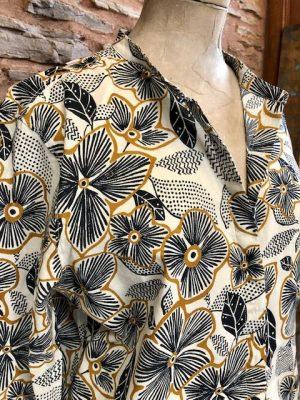 Carta Flowery Print Cotton Shirt