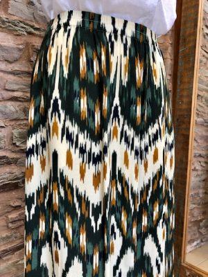 Hartford Jalouse Long Folk Skirt Green