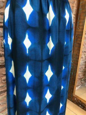 Hartford Jalouse Long Skirt Blue
