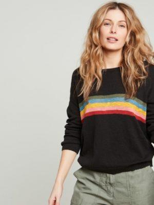 Hartford Marshall Striped Slub Cotton sweater 1