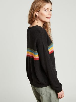 Hartford Marshal Striped Sweater Charcoal