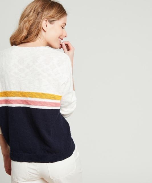 Hartford Matin Stripe Slub Cotton sweater 3