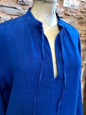 Hartford Roda Linen Dress Blue