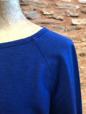 Hartford Tarael Cotton Sweatshirt Cobalt Blue