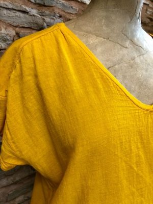 Hartford Double Fabric Tower Tee Yellow