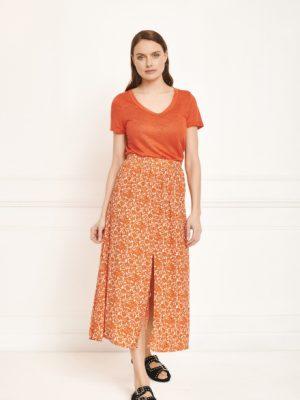 MKT Japoni Print Skirt Coral