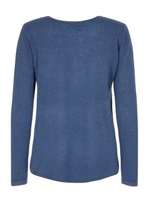 Mos Mosh Sophia Cashmere Deep Crew Neck Sweater Dark Blue
