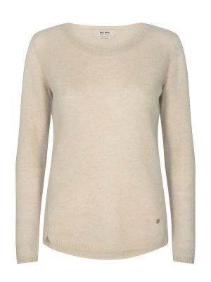 Mos Mosh Sophia Cashmere Deep Crew Neck Sweater Beige