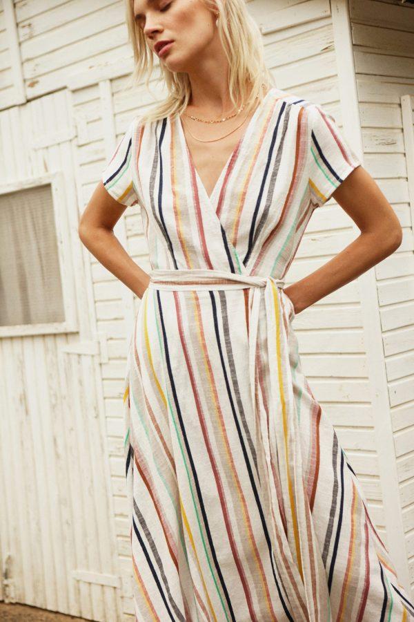 Designers Society Wrap Stripe Dress 1