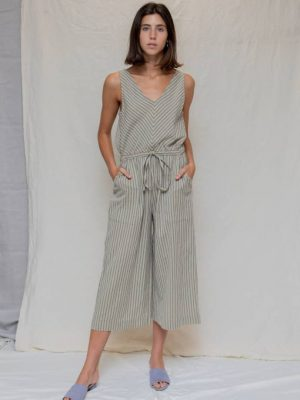 Designers Society Stripe Jumpsuit 1
