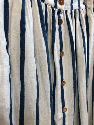 Hartford Stripe Skirt Ecru/Blue
