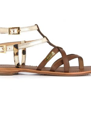 Les Tropeziennes Sandals Tan and Leopard