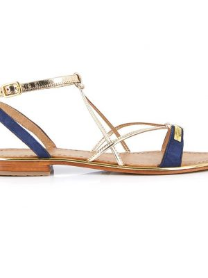 Les Tropeziennes Sandals Navy and Gold