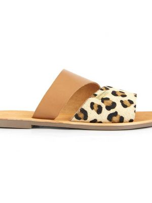 Les Tropeziennes Mule Tan and Leopard