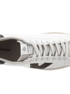 Victoria Contrast Leather Trainers