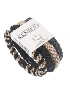 Bon Dep Hair Tie Multi pack black and grey