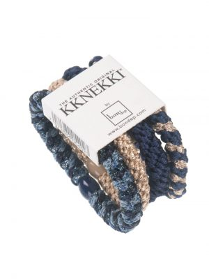 Bon Dep Hair Tie Multipack navy blue