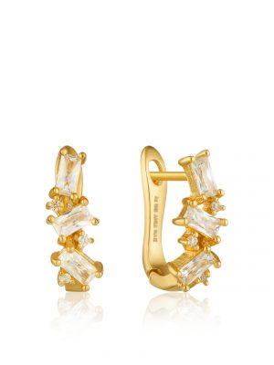 Ania Haie Gold Cluster Huggie Earrings