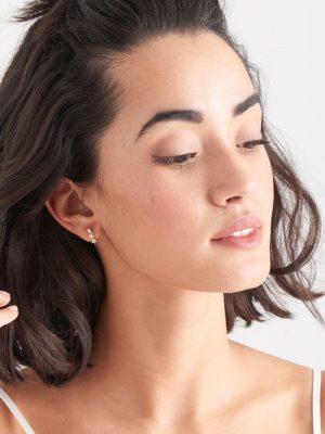 Ania Haie Gold Cluster Huggie Earrings