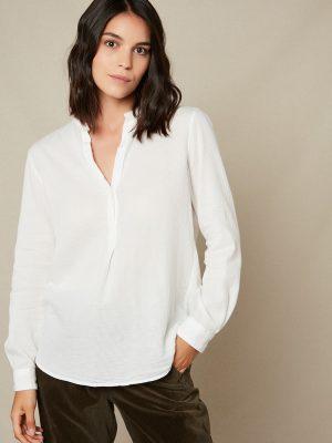 Hartford Carta Gauze Shirt White 1