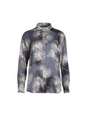 Hartford Charlot Japanese Print Shirt Grey 1