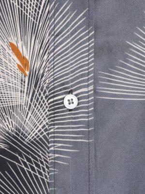 Hartford Oversize Japanese Print Charlot Shirt Grey