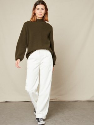 Hartford Malea Wool and Cashmere Sweater Army
