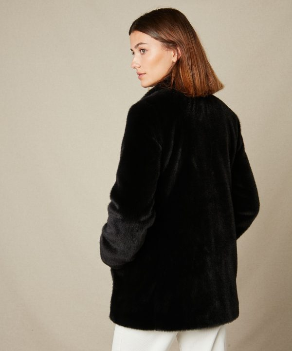 Hartford Vlap Coat Blue Black 4
