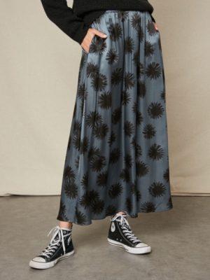 Hartford Joanna Skirt Blue Grey 1