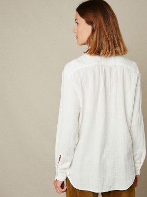 Hartford Double Fabric Christie Shirt White