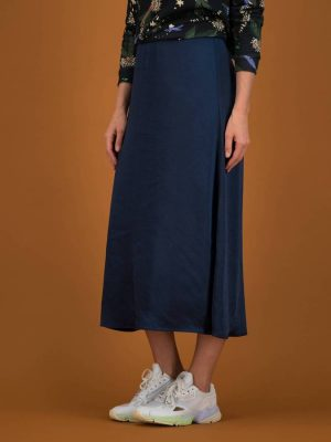 Pom Amsterdam Midi Skirt Midnight Blue