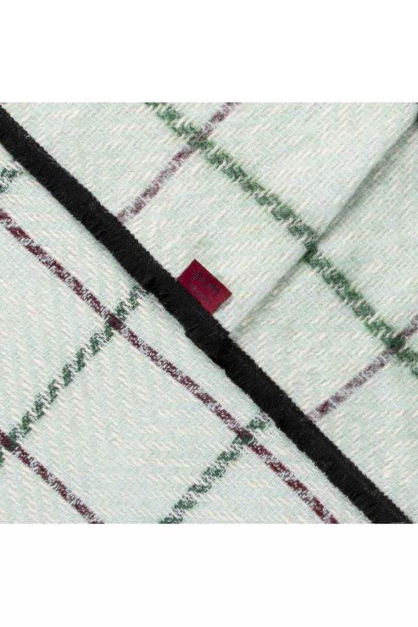 Pom Amsterdam Clever checks Mint scarf 2